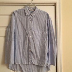 Zara oversized button down shirt